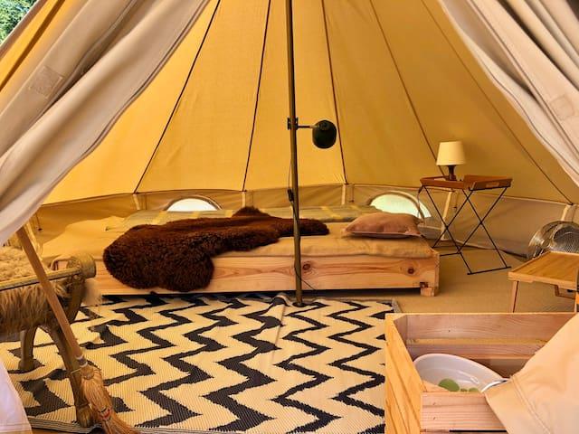 4. Glamping Camping Dijk&Meer Incl privé sanitair