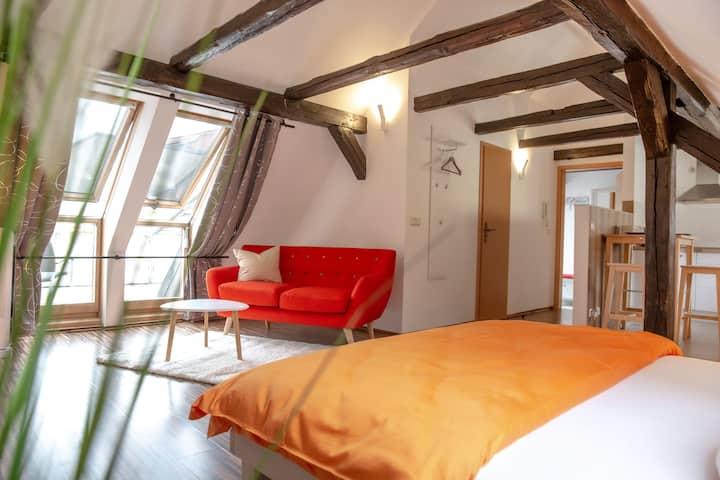 Helles & modernes Studio unterm Dach in Kamenz