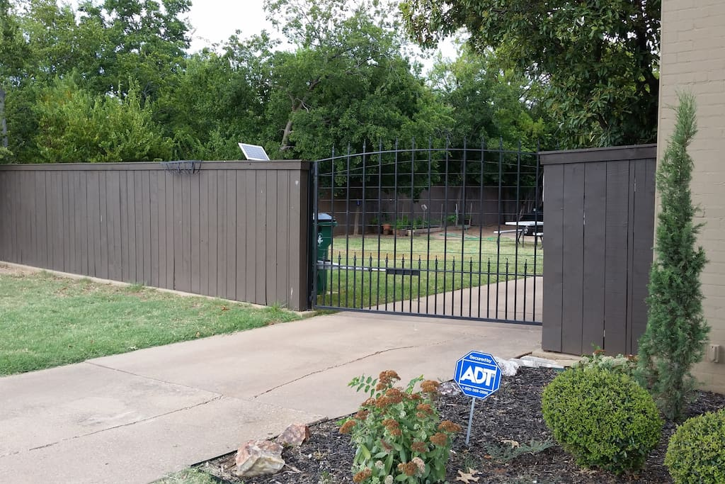 Gated entrance.