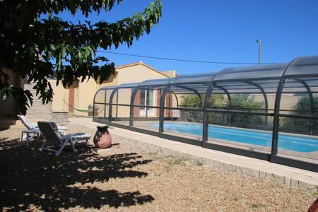 Maison familiale / piscine couverte - Rasteau - 단독주택
