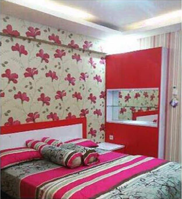 Tampilan ruang tidurcantik