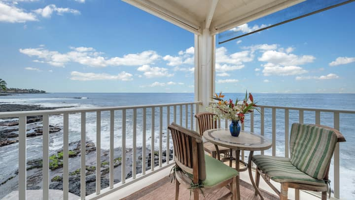 Hale Kona Kai 212 Must-See Absolute Oceanfront Condo
