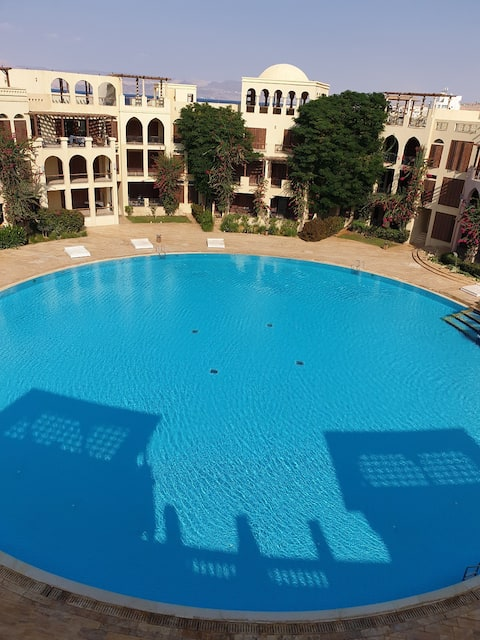 Gorgeous Beach 2BR Apt.   Tala Bay Resort,  Aqaba