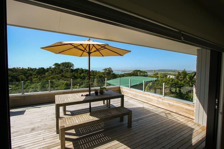 Coastal views, spacious contemporary Raglan home