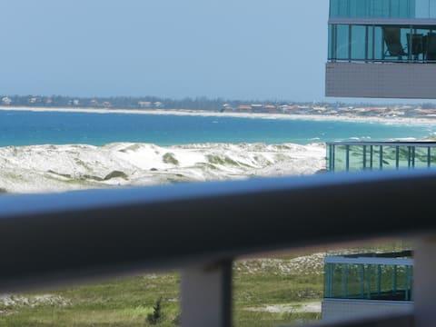 Praia do Forte Luxo - Varandão com vista da praia.