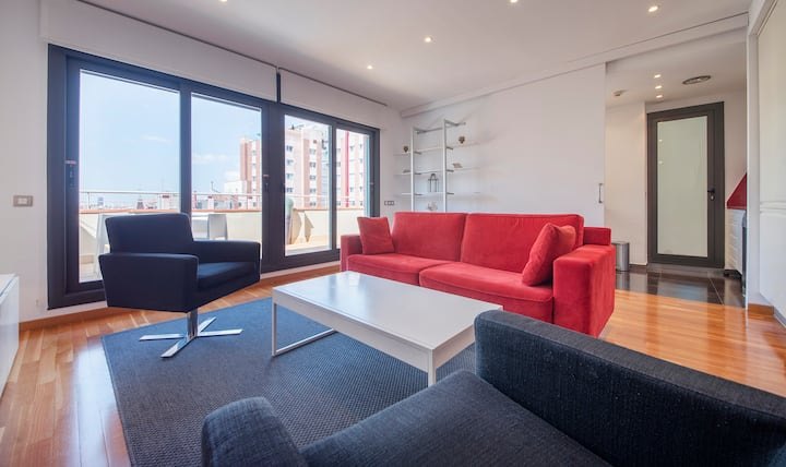 Paseo de Gracia D apartment; private terrace, WiFi