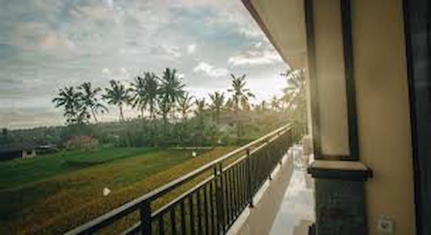 Rice Field view  at Kapu Kapu Ubud #2 Deluxe Room