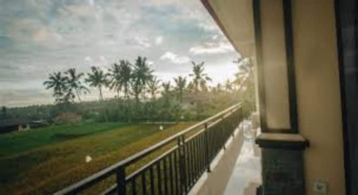 Spacious Room with Rice Field View In Ubud/Dlx