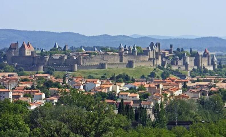 Grand T2 avec vue sur la cité - Carcassonne - Lägenhet