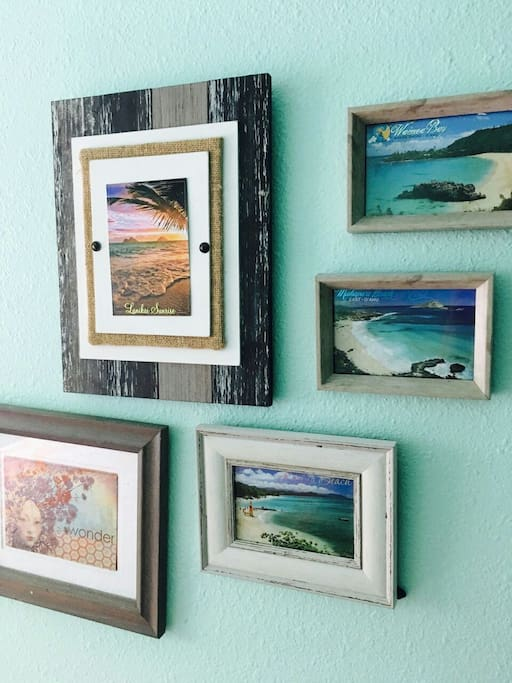 Guest decor of some of our favorite  beaches