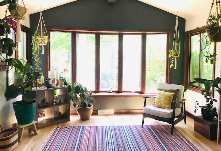 Sunlit Bohemian Home w/Backyard Patio and Parking!