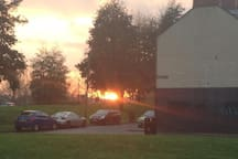 Cool sun set, taken from the side of the house