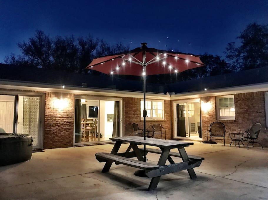 Relax under the stars and wonderful shade trees!