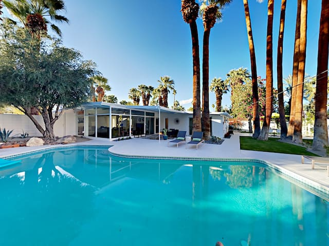 This is the vacation life! Enjoy an incredible private backyard at this Palm Desert home, professionally managed by TurnKey Vacation Rentals.