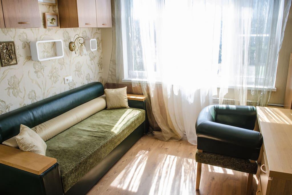 Комната с 1 диван-кровать