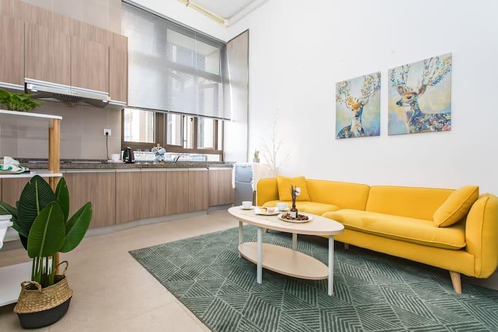 䴢鹿-高层复式公寓/南头 /欢乐颂/花卉小镇/交通便利/设备齐全