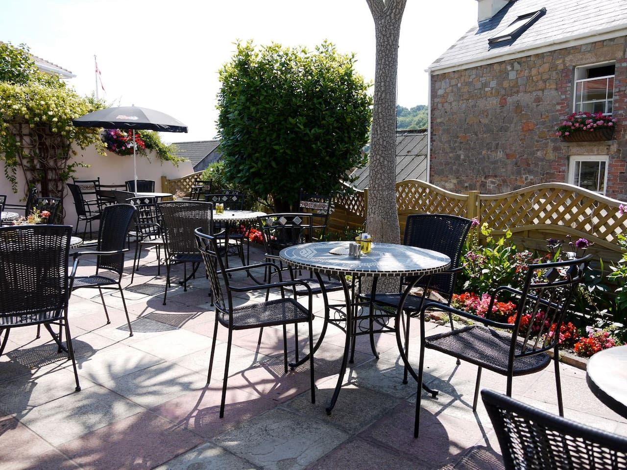 Rozel Bay Tea Room Sun Terrace
