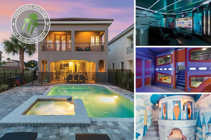 The Fun House at Reunion | Arcade Game Room, Movie Room, Private Pool