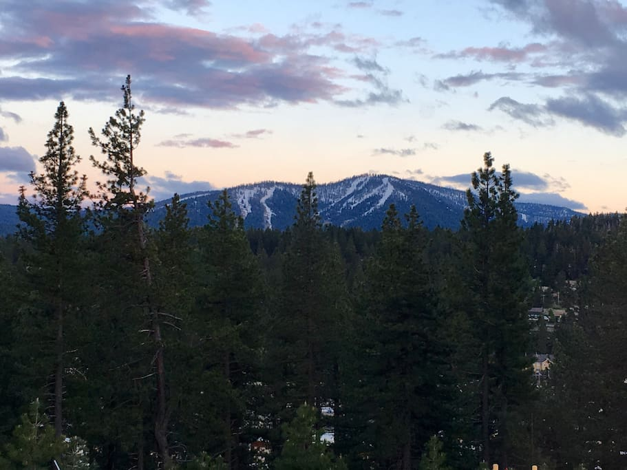 Sunset view of Northstar from the deck.