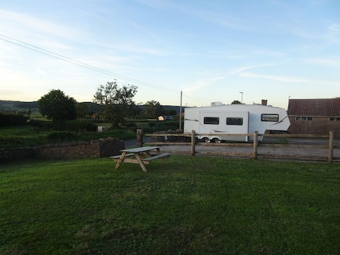 Large Self Contained Caravan in Rural Somerset