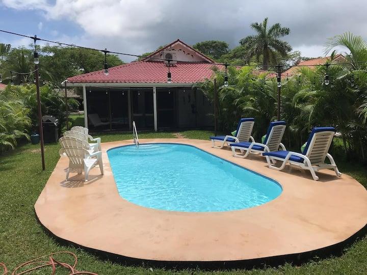 Los Delfines Villa-BIG private pool 3BR 2B.no pets