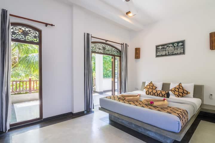 Green Villa Unawatuna - Deluxe Double room Balcony