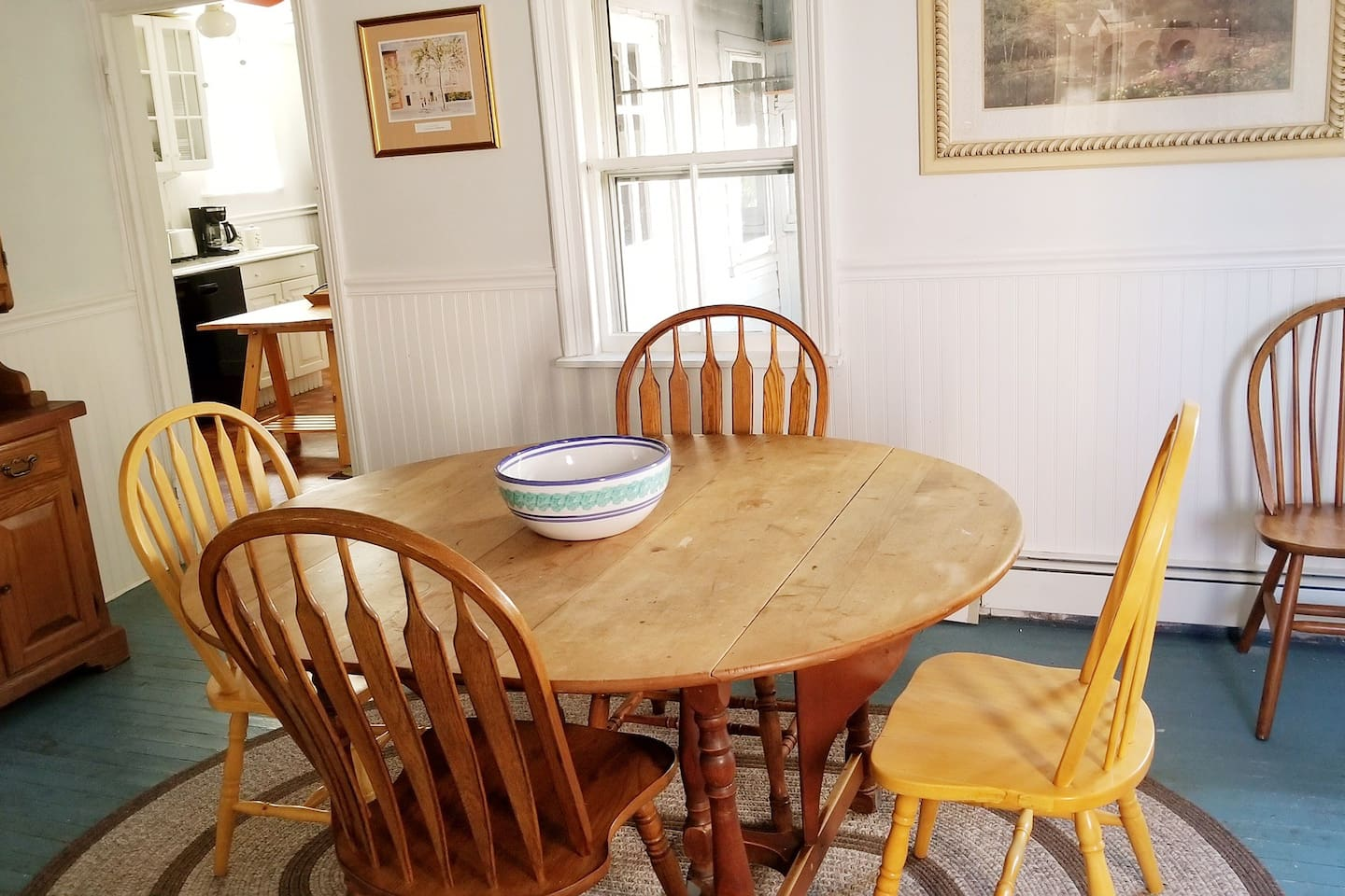 Our dining room is where you'll enter into apartment...