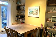 Our dining room, attached to the kitchen.