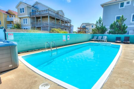 1008 Shellous * 5 Min Walk to Beach * Pet Friendly * Private Pool & Hot Tub
