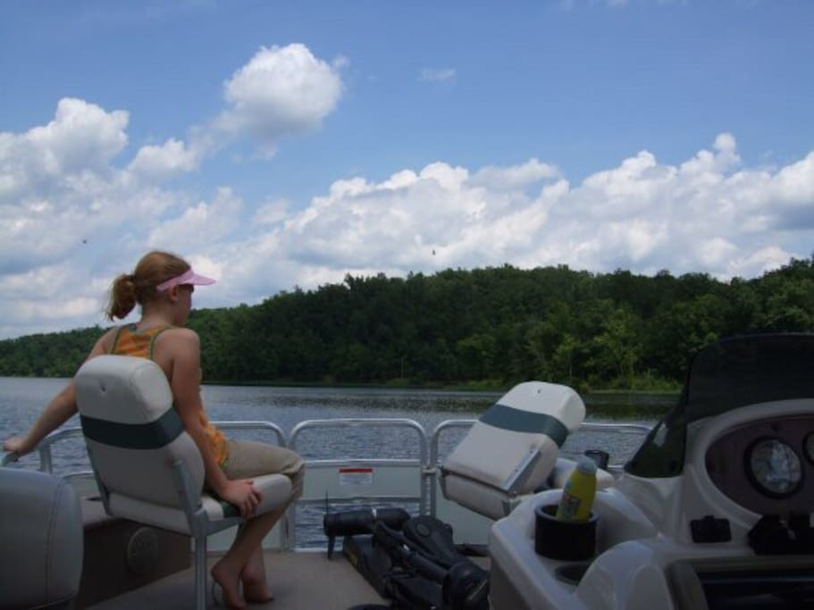 Lake of Egypt in Shawnee National Forest.  Boating is available upon request $