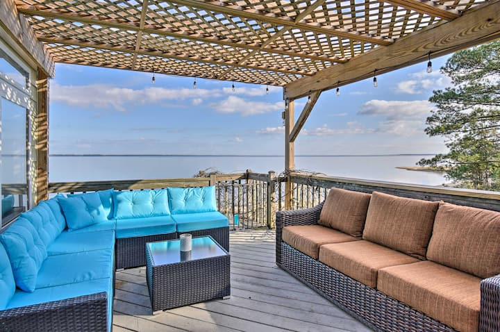 NEW! Vibrant Riverfront Gem w/ Private Beach, Dock
