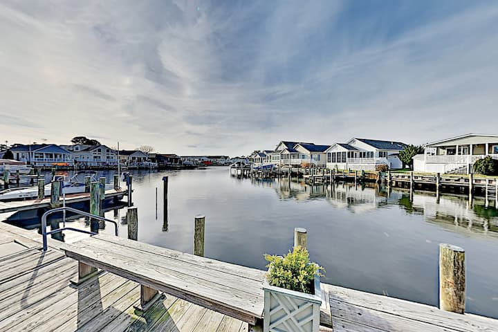 Canal-Front Home with Pool & Dock | Walk to Beach