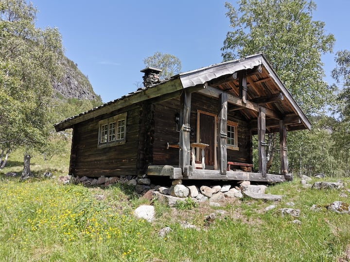 Idyllisk hytte ved Kviptetjønn, Øvre Birtedalen