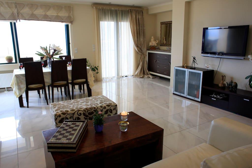 Luxury living room and dining area