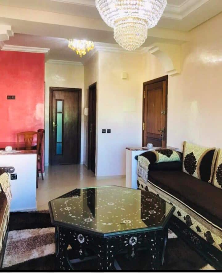 Apartment with 3 bedrooms in Tanger, with shared pool, furnished garden and WiFi - 6 km from the beach
