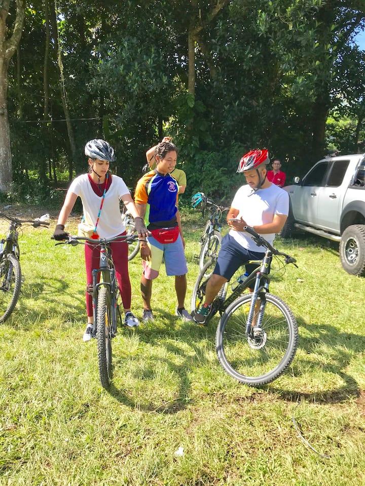 Checking bike equipment