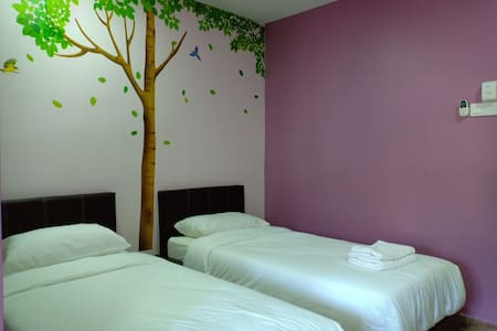 Purple dream home double twin bedroom 3A