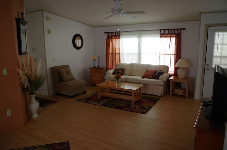 Barefoot Bay home, two bedroom and two full bath.