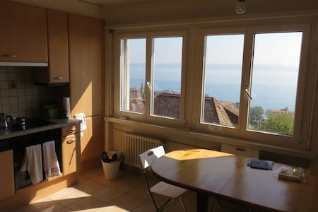 Peaceful room in nice central flat with lake view - Huoneisto