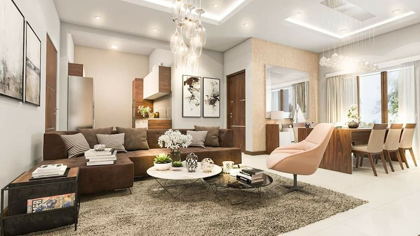 Spacious Luxury apartment in Relaxing homey env.