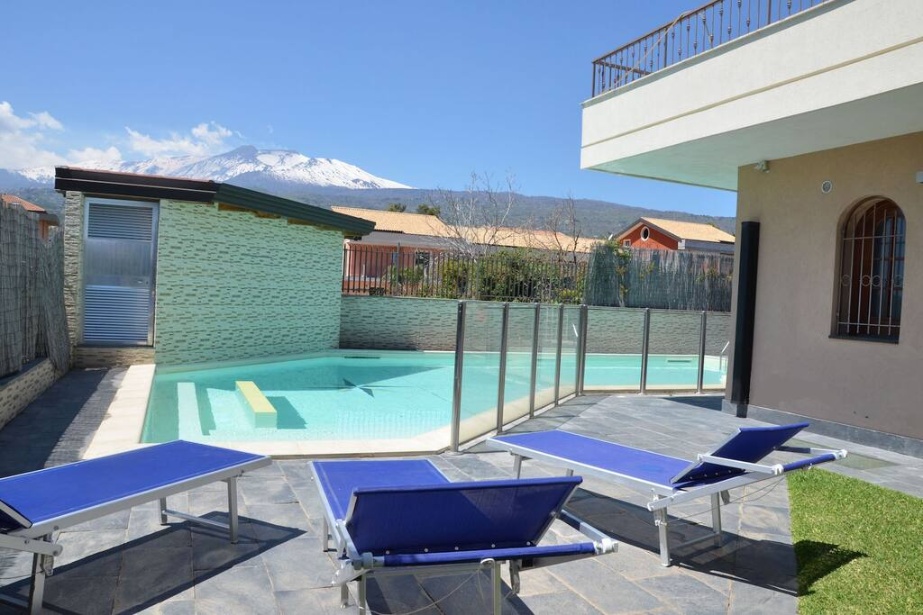 Private Swimming-Pool with view on Mt.Etna