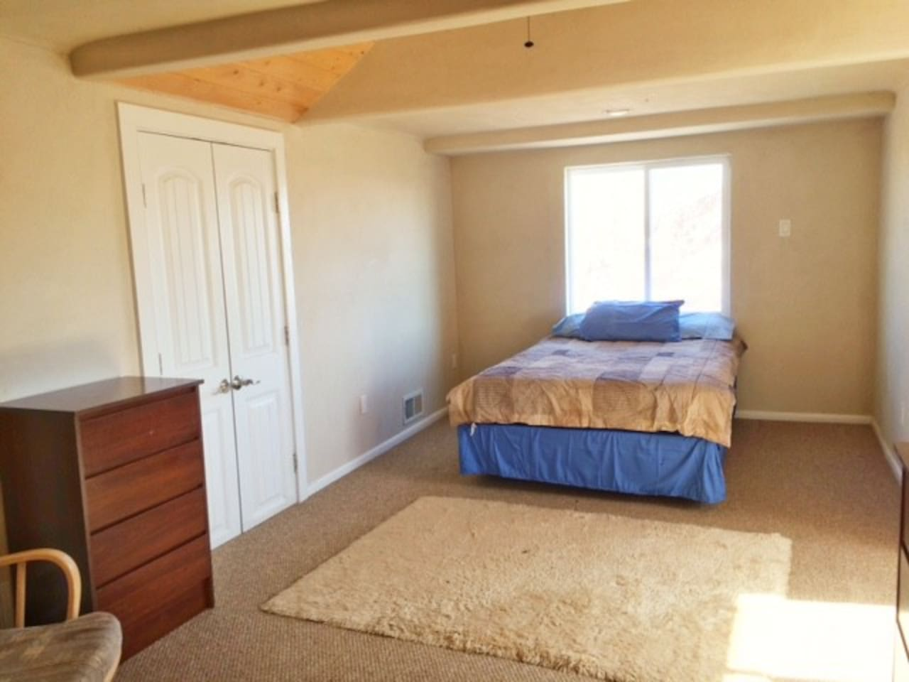 Full Bed in Shared Area Upstairs