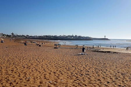 Beach front house, with garden and a terrific view - Rabat