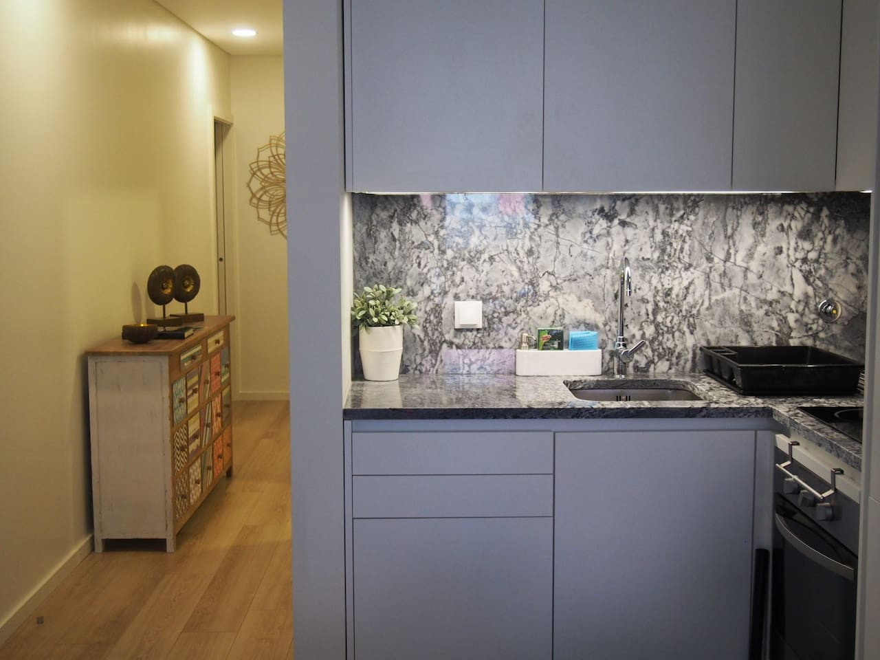 Kitchenette e corredor