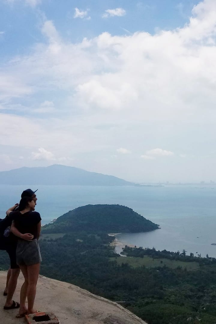 Couple Enjoy The Stunning Landscape