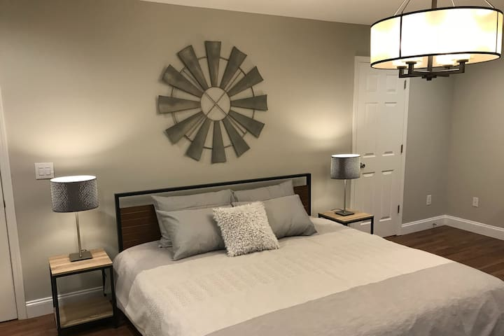 Master Bedroom with a King Bed and en suite Bathroom