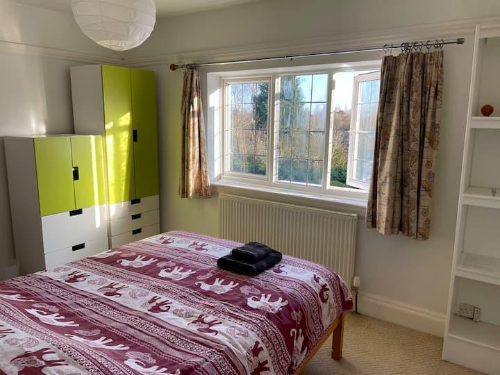Beautiful garden view bedroom in Moseley