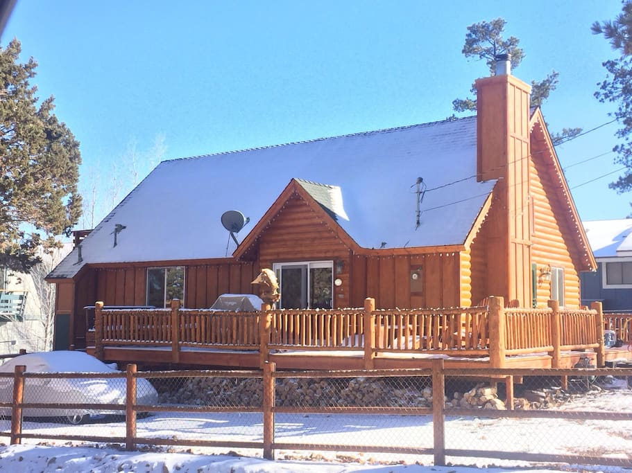 Rustic luxe big bear cabin loft cabins for rent in big Big bear cabins california
