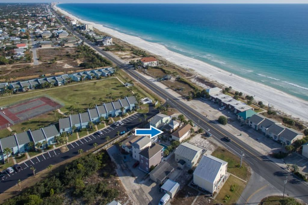 'Front Beach' is Located Just Across The Street From The Gulf Of Mexico