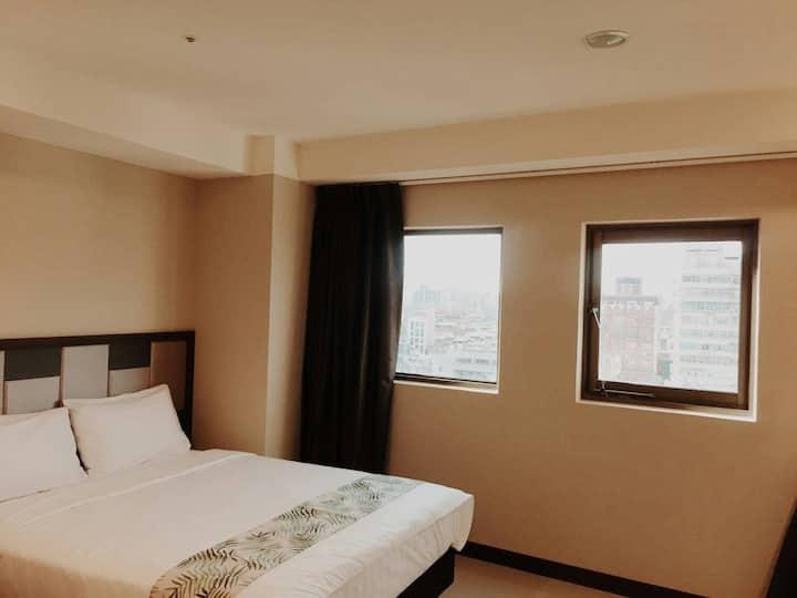 經濟雙人房☛特價on sale!!近台北橋捷運站觀光夜市商圈公寓酒店